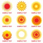 Sun symbols — Stock Vector #1628635