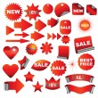 Red signs — Vector de stock #1628729