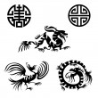 Chinese design elements — Image vectorielle