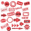 Royalty-Free Stock Imagen vectorial: Red grunge signs