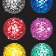 Stock Vector: Set of discoballs