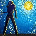 Girl dancing in night-club — Stock Vector