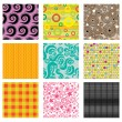 Set of bright abstract patterns — Imagens vectoriais em stock