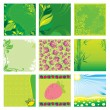 Natural green backgrounds — Stock Vector