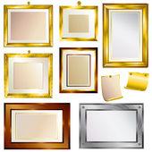 Set of beautiful frames — Stock Vector