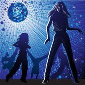 Dancing in night-club — Stock Vector