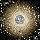 矢量与迪斯科球 cd 封面设计 — 图库矢量图片