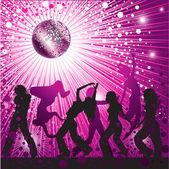 Disko topu ve pırıltılar — Stok Vektör