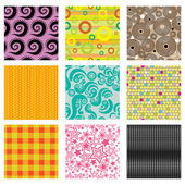 Set of bright abstract patterns — Stock Vector
