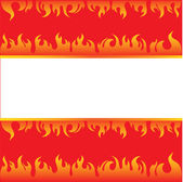 Vector frame background with fire — Stock Vector