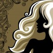 Royalty-Free Stock Imagen vectorial: Closeup vintage woman