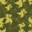 Seamless green floral pattern — Vector de stock