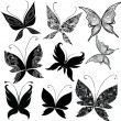 Set of butterfly design elements — Stock Vector