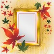 Vector frame with colorful Leafs - Stock Vector