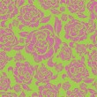 Seamless beige grunge rose pattern — Stock Vector