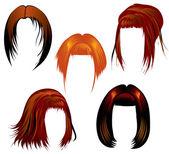 Peinado para mujer — Vector de stock
