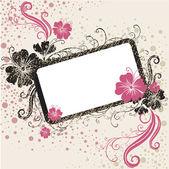 Vector Floral vintage frame — Stock Vector