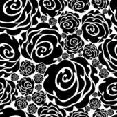Seamless beige grunge rose pattern — Stock Vector