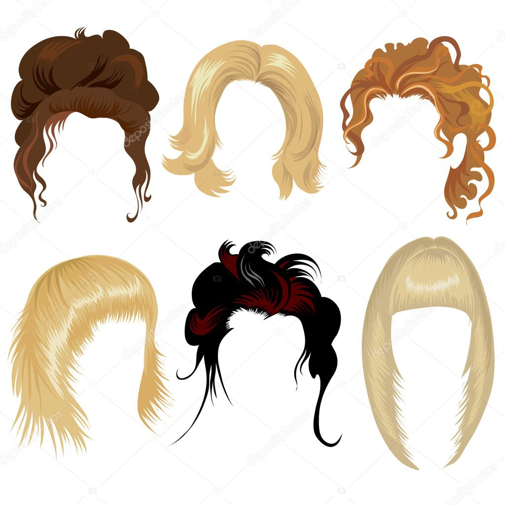 Hair Styling For Woman Stock Vector 169 Kynata 1631070