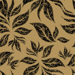 Vector de stock : Seamless beige floral pattern