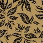 patrón floral beige transparente — Vector de stock