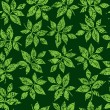 Seamless green floral pattern — ストックベクタ