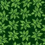 patrón floral verde transparente — Vector de stock