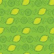 Seamless pattern from lemons - Stock Vector