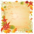 Grunge vector frame background - Stock Vector