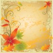 Royalty-Free Stock Векторное изображение: Background with colorful Autumn Leaves