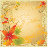 Background with colorful Autumn Leaves — Stock Vector