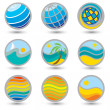 Set of travel symbols - Stock Vector