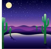 Night American landscape — Stock Vector