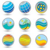 Set of travel symbols — Stock Vector