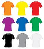 T-shirt samples — Stock Vector