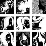 Vector set of closeup portraits — Stock Vector #1702943