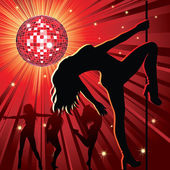 Dancing in night-club — Stock Vector