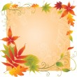 Background with colorful Autumn Leaves - Stock Vector