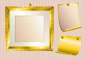 Antique frame background — Stock Vector