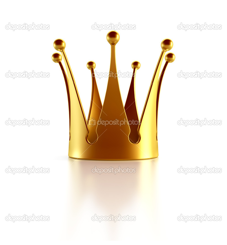 Isolated golden crown 3d rendering — Stock Photo #1583230