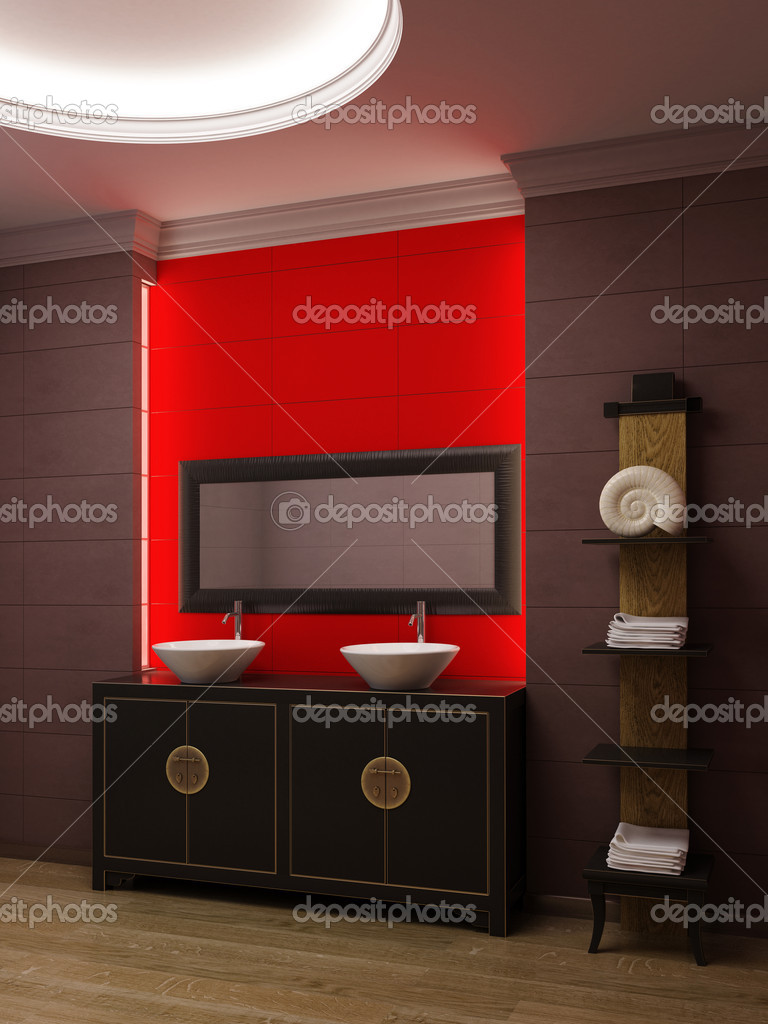 3d rendering of the asian bathroom — Stock Photo #1583285