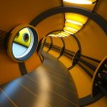 Futuristic modern interior 3d rendering — Stock Photo #1741956