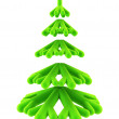 Symbolic Christmas tree 3d rendering - Stock Photo