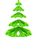 Symbolic Christmas tree 3d rendering — Stock Photo