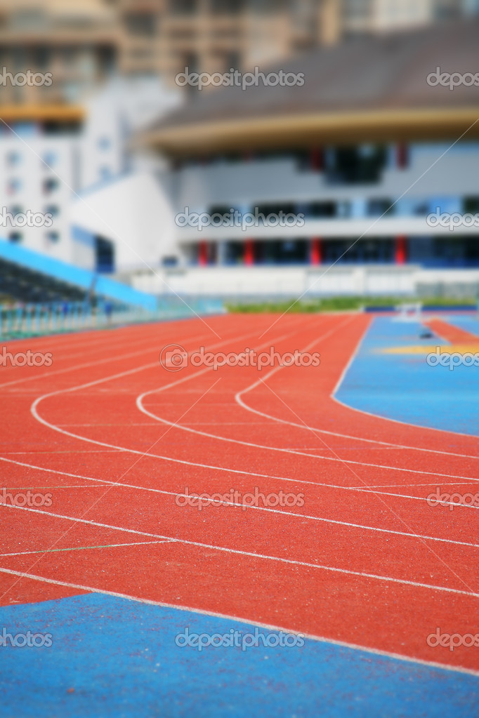 Stadium with running track  Stock Photo #1794141