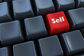 "Keyboard with ""sell"" button 3d — Stock Photo"