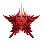 Isolated symbolic red star — Stock Photo