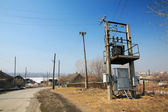 Rural transformer station — Stock Photo