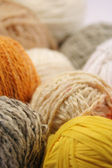 Colours wool clews — Stock Photo