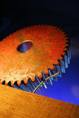 Oude gear wheel — Stockfoto